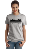 Ladies Grey Winnipeg, Canada City Skyline - Winnipeg Jets Pride Love Native T-shirt