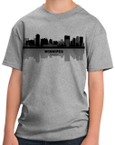 Youth Grey Winnipeg, Canada City Skyline - Winnipeg Jets Pride Love Native T-shirt