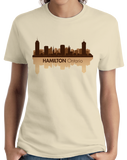 Ladies Natural Skyline Of Hamilton, Ontario - Hamilton Tiger-Cats Pride Love T-shirt