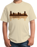 Youth Natural Skyline Of Hamilton, Ontario - Hamilton Tiger-Cats Pride Love T-shirt