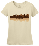 Ladies Natural Vancouver, Canada City Skyline - Vancouver Canucks Pride Love T-shirt