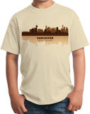 Youth Natural Vancouver, Canada City Skyline - Vancouver Canucks Pride Love T-shirt