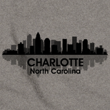 CHARLOTTE, NC CITY SKYLINE Grey art preview