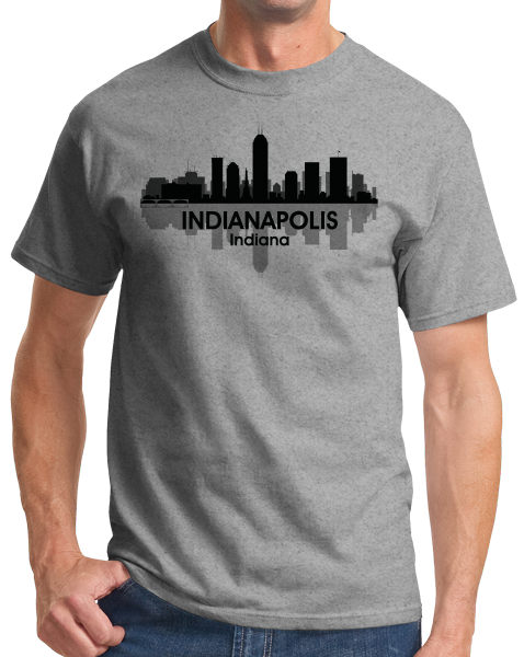 Unisex Grey Indianapolis, IN City Skyline - Indianapolitan Pride Indy 500 T-shirt