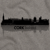 Cork, Ireland City Skyline Grey art preview