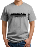 Unisex Grey Cork, Ireland City Skyline - Irish Pride County Cork Love T-shirt