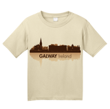 Youth Natural Galway, Ireland City Skyline - Irish Pride Galway Love Claddagh T-shirt