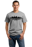 Unisex Grey Los Angeles, CA City Skyline - City of Angels Hollywood Love LA T-shirt