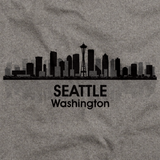 SEATTLE CITY SKYLINE  Grey art preview