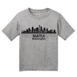 Youth Grey Seattle City Skyline - Space Needle Grunge Rock Home Love Pride T-shirt