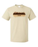 Unisex Natural Leeds, England City Skyline - West Yorkshire Leeds United A.F.C. T-shirt