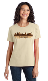 Ladies Natural Liverpool, England City Skyline - The Beatles Hometown Love T-shirt