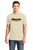 Unisex Natural Liverpool, England City Skyline - The Beatles Hometown Love T-shirt