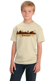 Youth Natural Liverpool, England City Skyline - The Beatles Hometown Love T-shirt