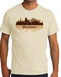 Unisex Natural Manchester, England City Skyline - Manchester United City Pride T-shirt