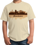 Youth Natural Manchester, England City Skyline - Manchester United City Pride T-shirt