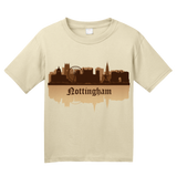 Youth Natural Nottingham, England City Skyline - Robin Hood Nottingham Forest T-shirt