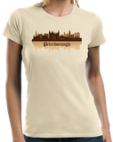 Ladies Natural Skyline Of Peterborough, UK - Peterborough United Football Club T-shirt