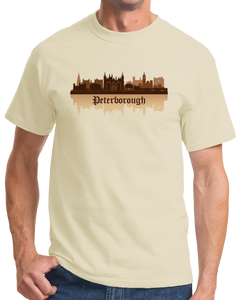 Unisex Natural Skyline Of Peterborough, UK - Peterborough United Football Club T-shirt