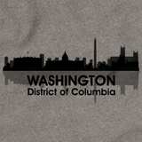 WASHINGTON, DC CITY SKYLINE Grey art preview