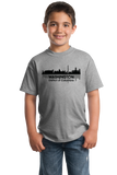 Youth Grey WASHINGTON, DC CITY SKYLINE T-shirt