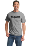 Unisex Grey Skyline Of Abu Dhabi, UAE - United Arab Emirates Dubai City T-shirt