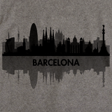 Skyline of Barcelona, Spain Grey art preview
