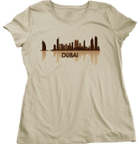 Ladies Natural Dubai, UAE City Skyline - United Arab Emirates City Abu Dhabi T-shirt