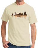 Unisex Natural Dubai, UAE City Skyline - United Arab Emirates City Abu Dhabi T-shirt