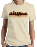 Ladies Natural Durban, South Africa City Skyline - South African Pride Love T-shirt