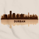Durban, South Africa City Skyline Natural art preview