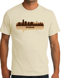 Unisex Natural Durban, South Africa City Skyline - South African Pride Love T-shirt