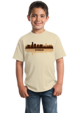 Youth Natural Durban, South Africa City Skyline - South African Pride Love T-shirt