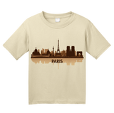 Youth Natural Paris, France City Skyline - Parisian Native City of Lights Love T-shirt