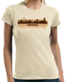 Ladies Natural Pretoria, South Africa City Skyline - South African Capital City T-shirt