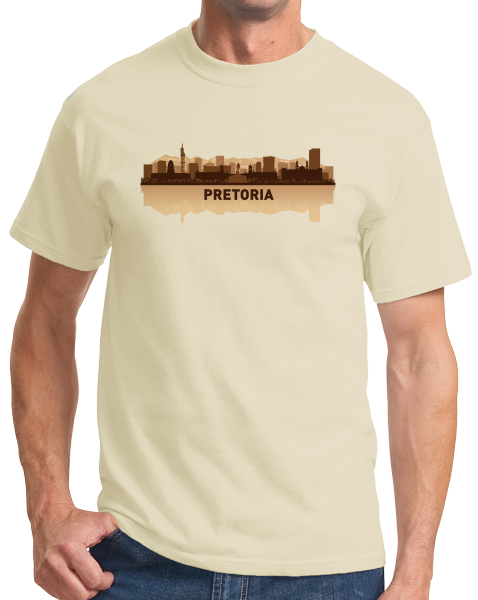 Unisex Natural Pretoria, South Africa City Skyline - South African Capital City T-shirt