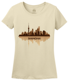 Ladies Natural Skyline Of Shanghai, China - Chinese City Love Shanghai Shenhua T-shirt