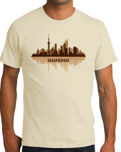 Unisex Natural Skyline Of Shanghai, China - Chinese City Love Shanghai Shenhua T-shirt