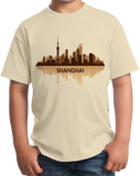Youth Natural Skyline Of Shanghai, China - Chinese City Love Shanghai Shenhua T-shirt