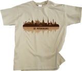 Youth Natural St. Petersburg, Russia City Skyline - Leningrad Russian Love T-shirt