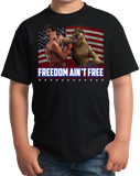 Youth Black SMOKEY VS. HITLER: a KO for Freedom T-shirt