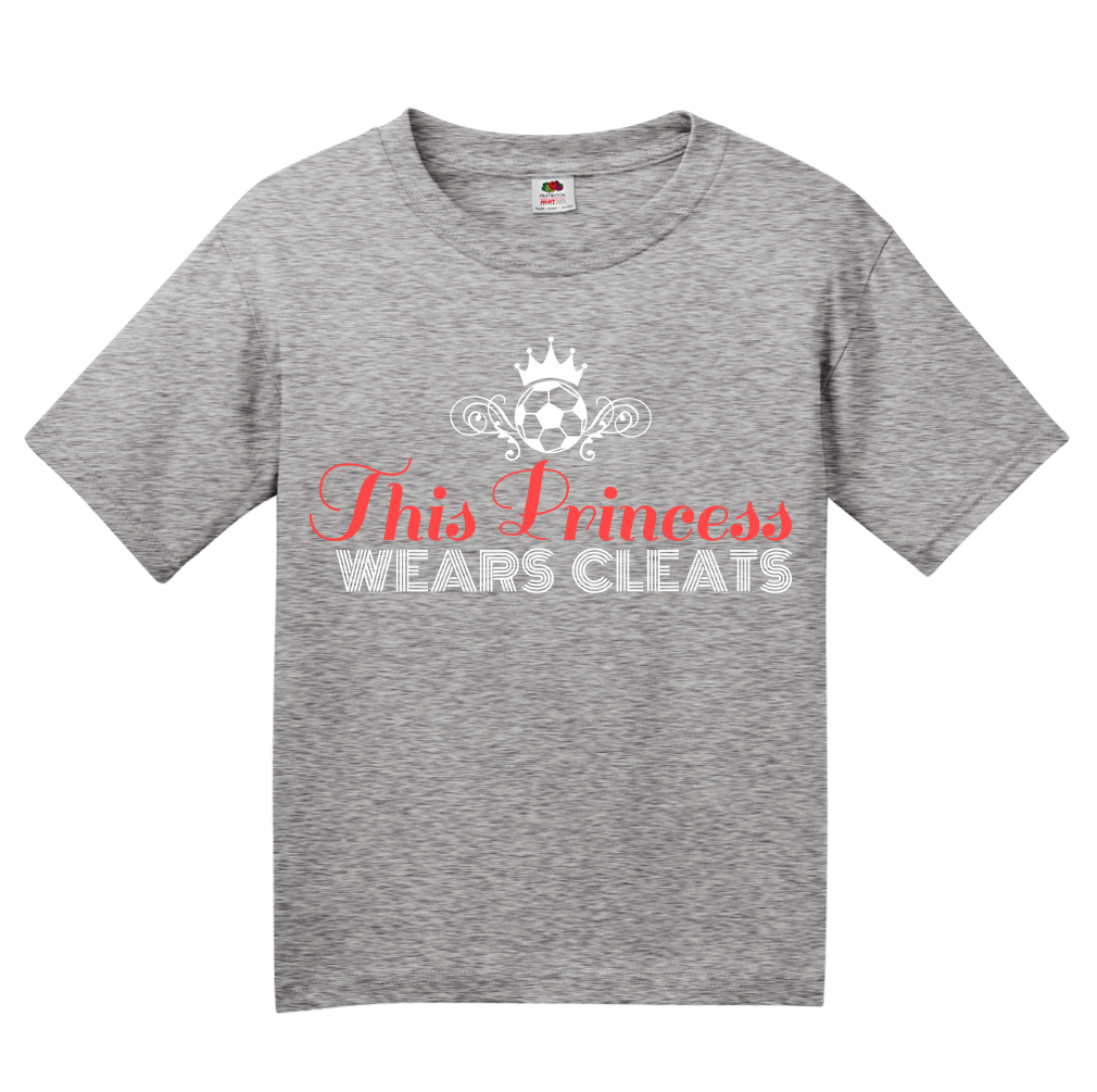 Youth Grey This Princess Wears Cleats - Soccer Player Girl Pride Power T-shirt