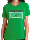 Ladies Green Scoregasm - Soccer Player Pride Humor Funny Gift Futbol T-shirt