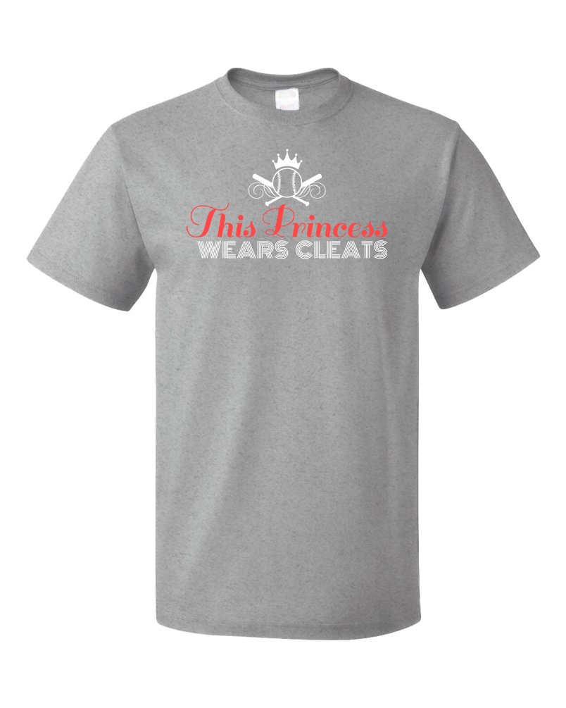 Standard Grey This Princess Wears Cleats - Soccer Player Girl Pride Power T-shirt