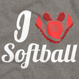 I HEART SOFTBALL (HEART MADE OF CLEATS) Grey art preview