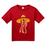Youth Red El Tocino - Spanish Translation Bacon Funny Espanol Bilingual T-shirt