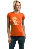 Ladies Orange El Gato - Spanish Translation Cat Funny Cute Espanol Bilingual T-shirt
