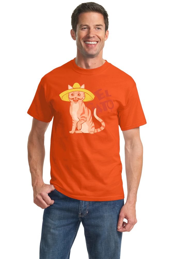 Standard Orange El Gato - Spanish Translation Cat Funny Cute Espanol Bilingual T-shirt