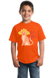 Youth Orange El Gato - Spanish Translation Cat Funny Cute Espanol Bilingual T-shirt