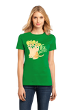 Ladies Green El Gatito - Spanish Vocab Kitten Cute Fun Espanol Adorable T-shirt